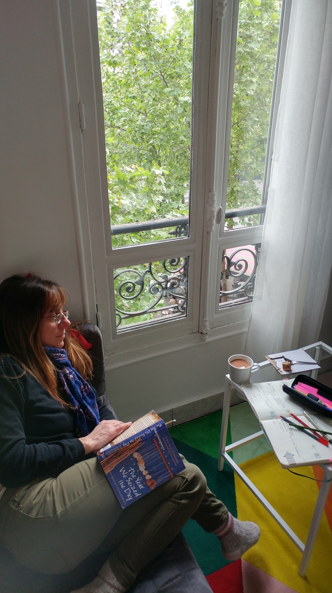 Nikki reading apartment 3